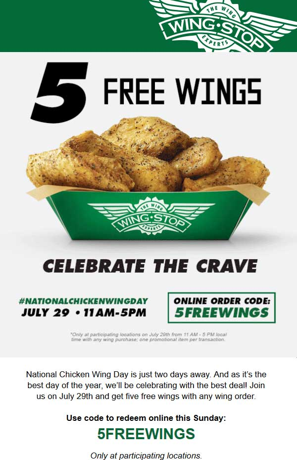Wingstop Coupons Free Fries With Your Wings At Wingstop