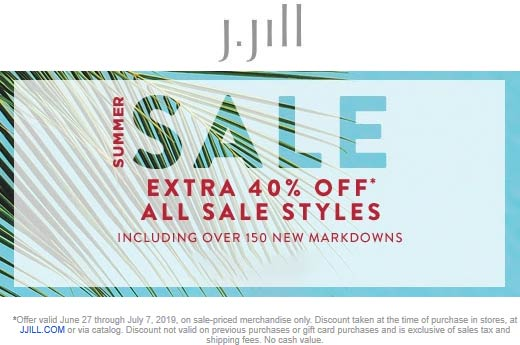 J.Jill coupons & promo code for [August 2020]
