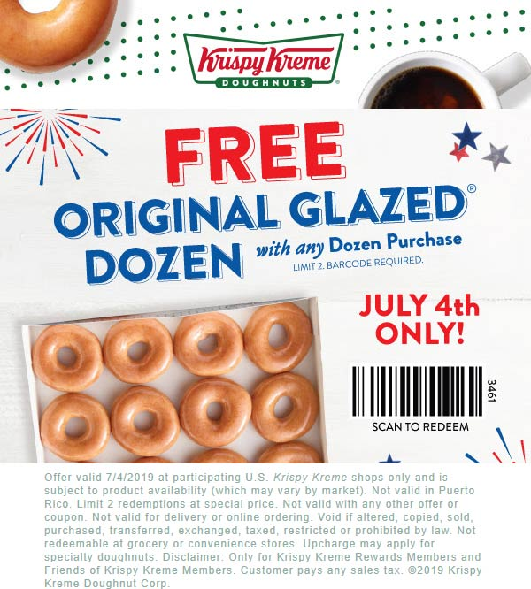 Krispy Kreme coupons & promo code for [April 2020]