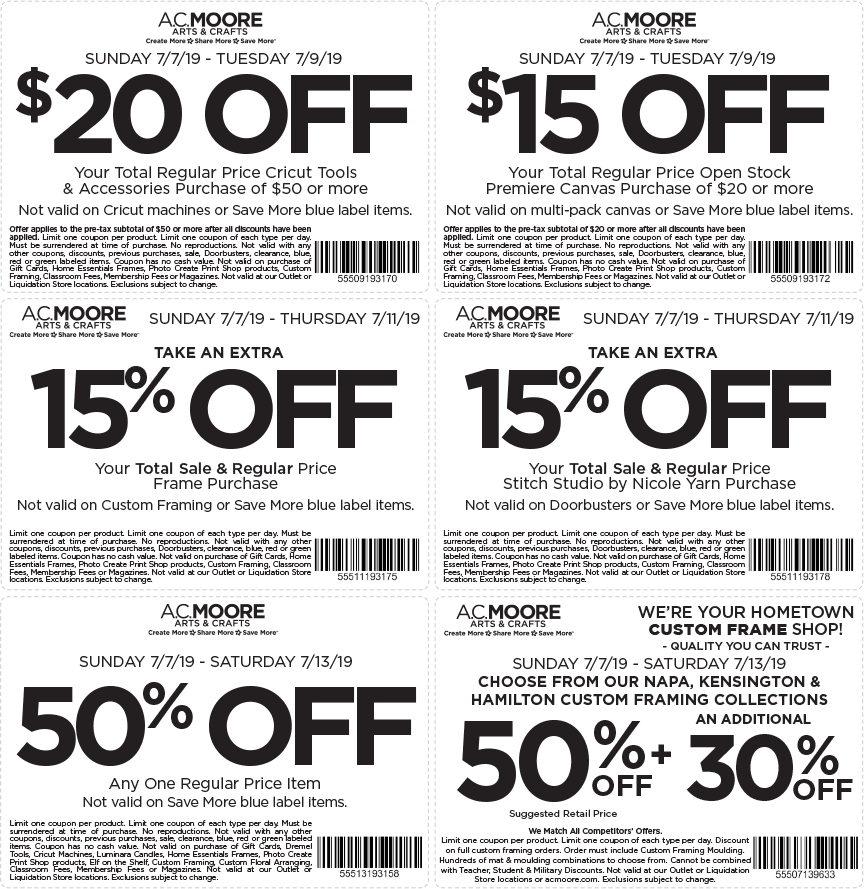 A.C.Moore.com Promo Coupon 50% off a single item & more at A.C. Moore