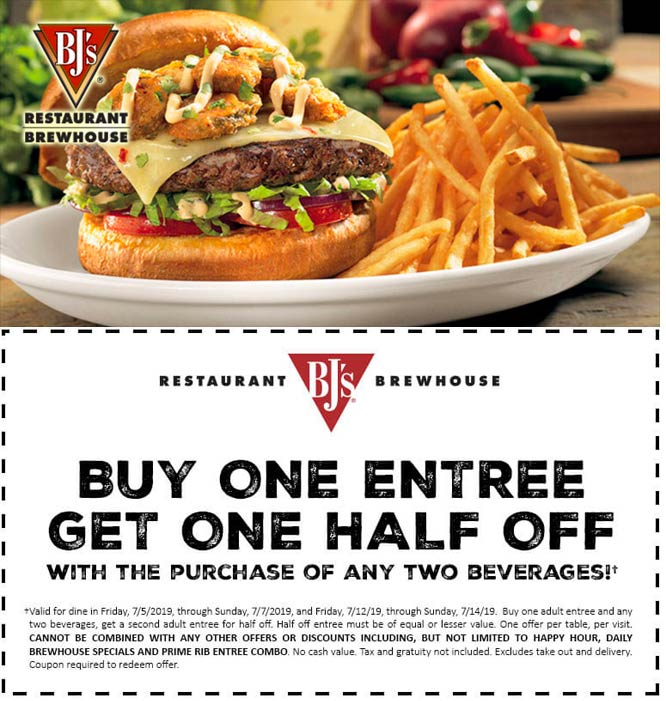 BJs Restaurant coupons & promo code for [April 2020]