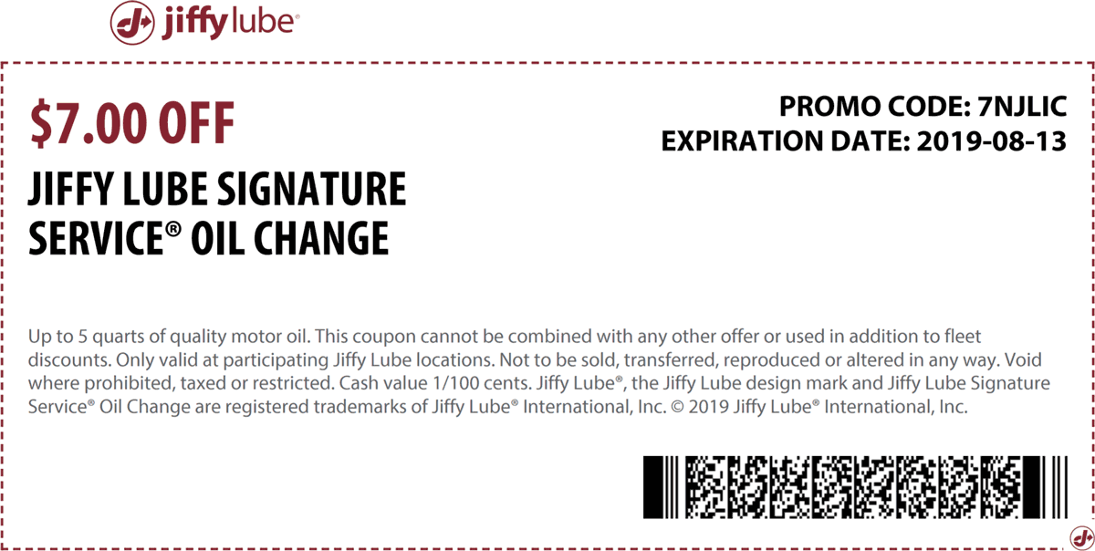 Jiffy Lube coupons & promo code for [April 2020]