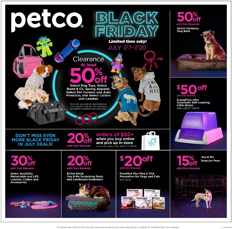 Petco Coupon January 2020 50% off clearance & more at Petco, also 20% off $50 online with store pickup