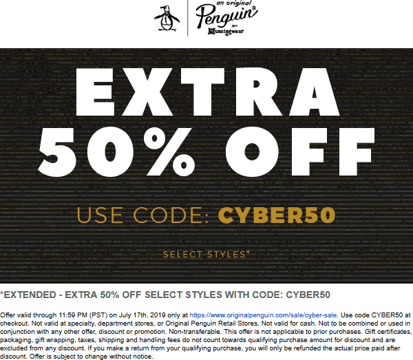 Original Penguin coupons & promo code for [August 2020]