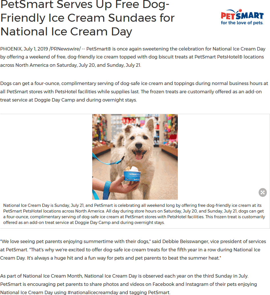 PetSmart Coupon September 2019 Free dog ice cream this weekend at PetSmart