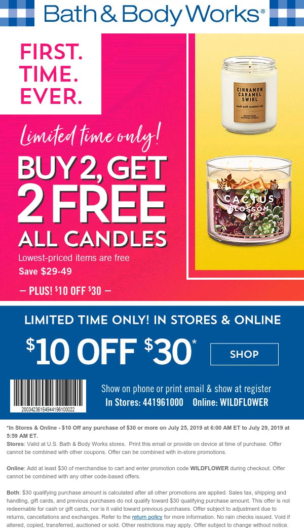 Bath Body Works November 2020 Coupons And Promo Codes