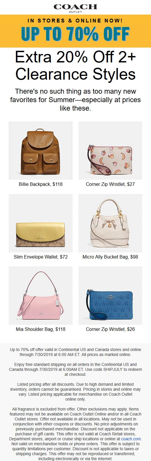 Coach Outlet coupons & promo code for [April 2021]