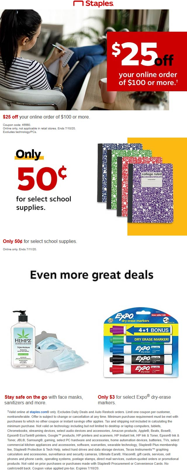 November 2020 10 Off 25 On School Office Supplies At Amazon Amazon Coupon Promo Code The Coupons App