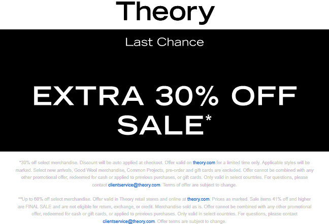 Theory stores Coupon  Extra 30% off sale items today at Theory #theory art conspiracy conspiracytheory theories scary creepy cardistry cards cardmagic illusion magic