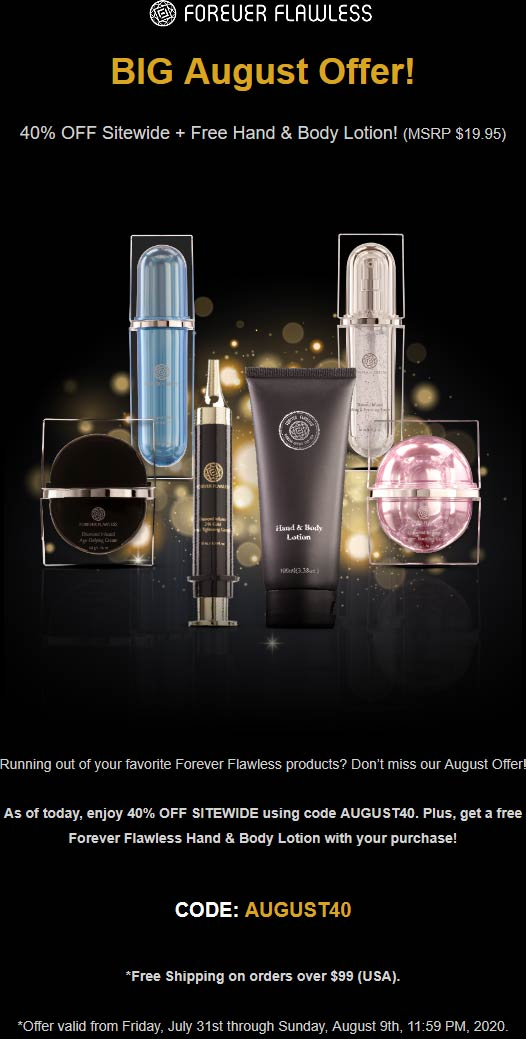Forever Flawless coupons & promo code for [August 2020]