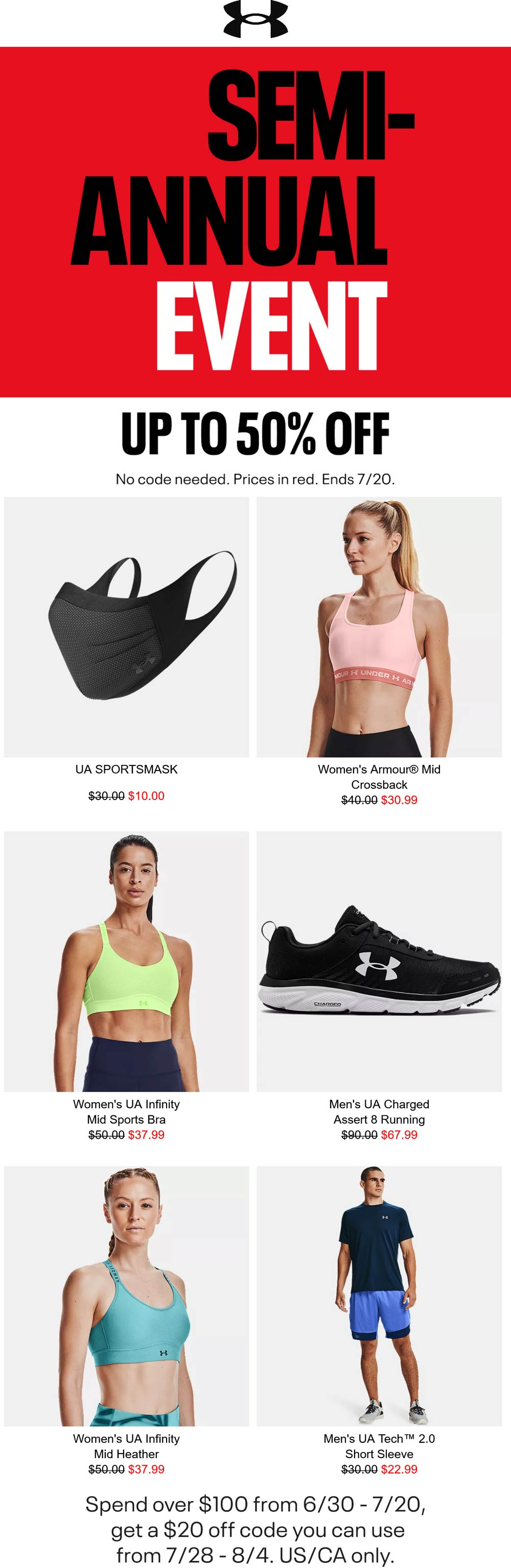 Under Armour coupons & promo code for [September 2021]