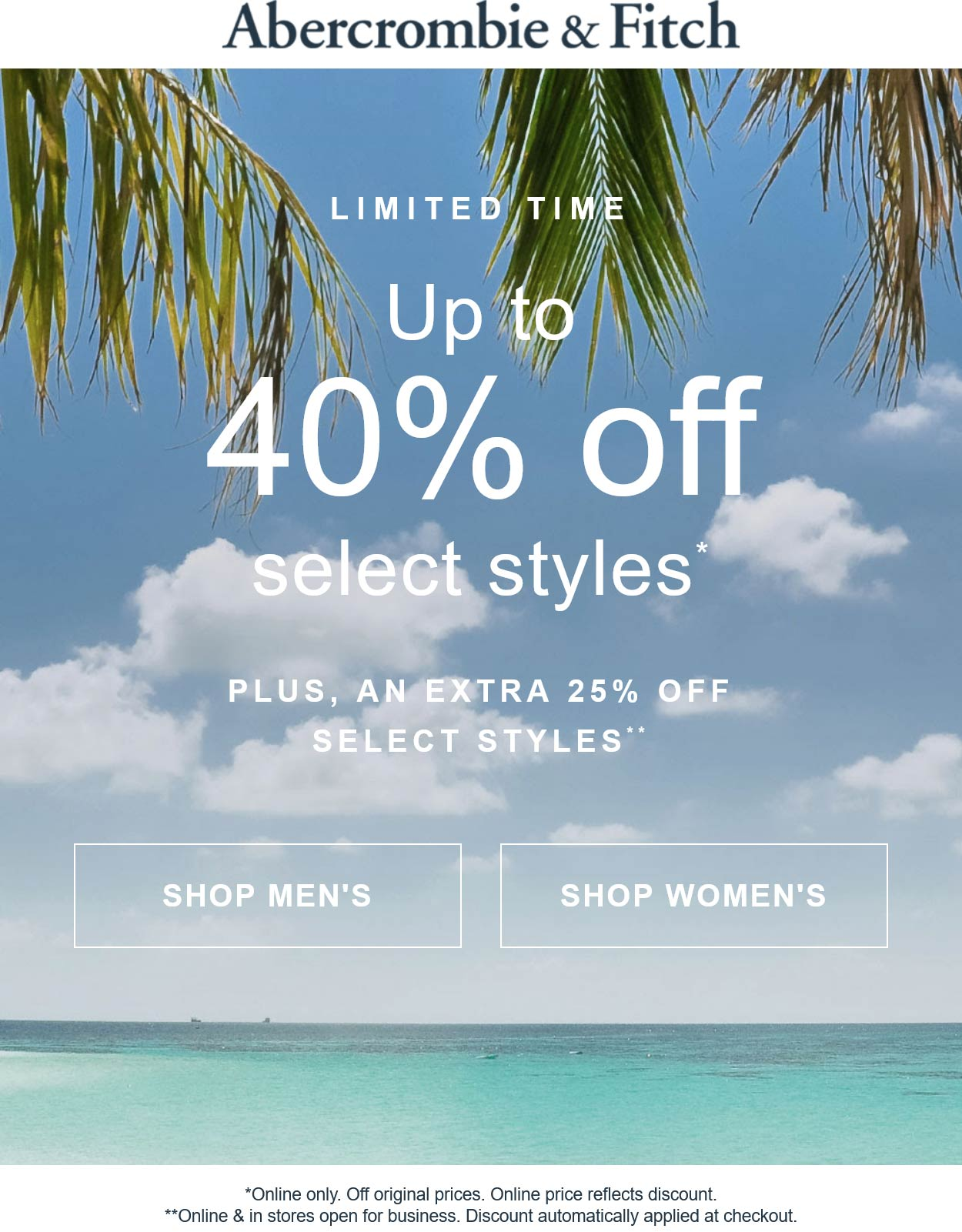 Abercrombie & Fitch coupons & promo code for [September 2021]
