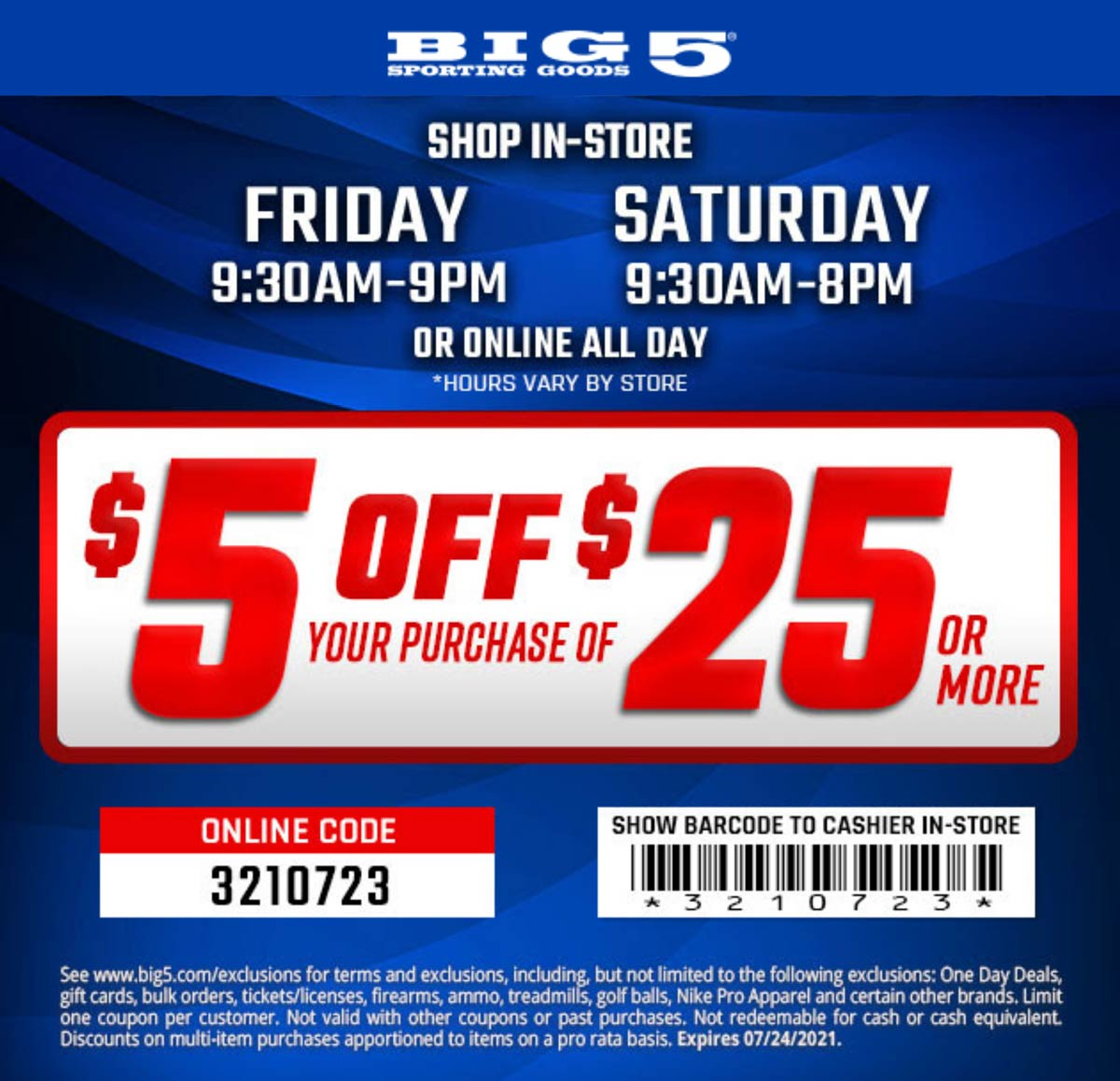 Big 5 coupons & promo code for [September 2021]