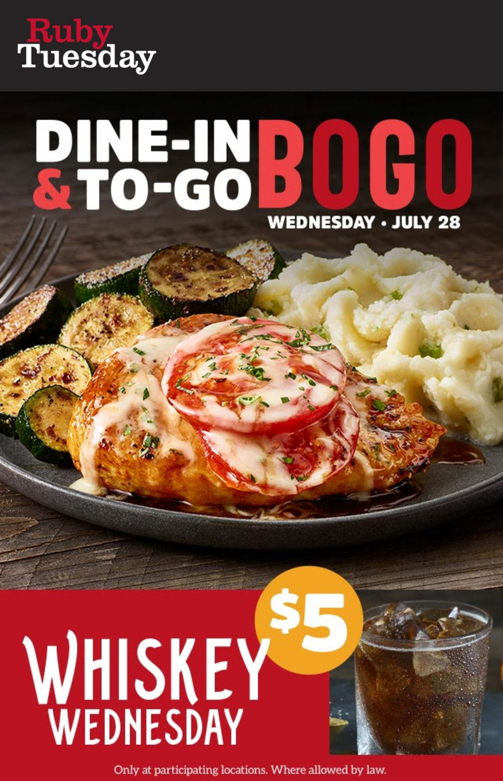 Ruby Tuesday restaurants Coupon  Second entree free today at Ruby Tuesday #rubytuesday