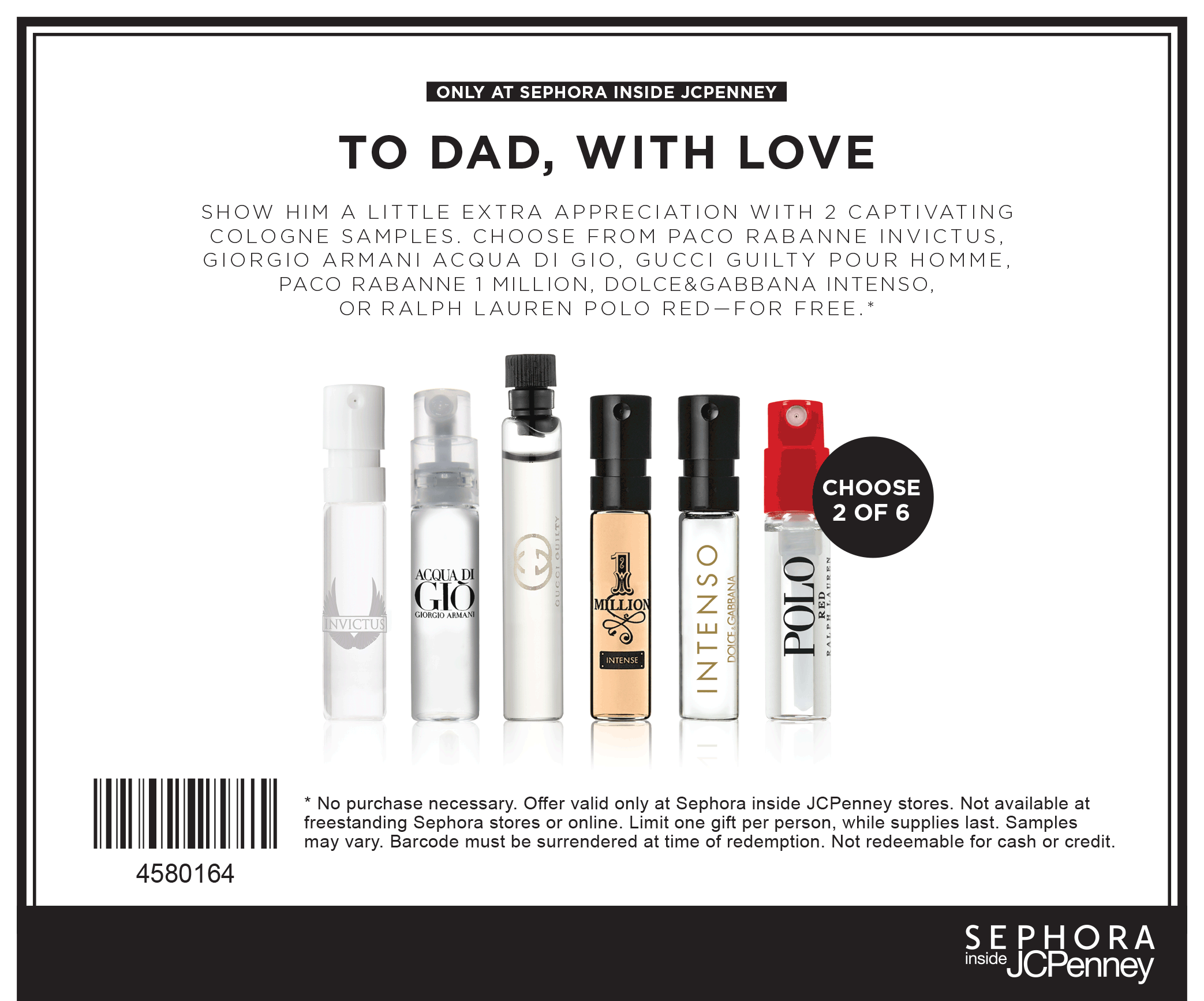 Free Sample: Couple Dolce Gabanna fragrance in-store at