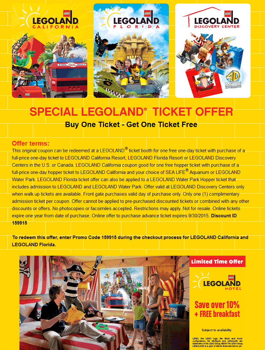 LEGOLAND January 2021 Coupons and Promo Codes