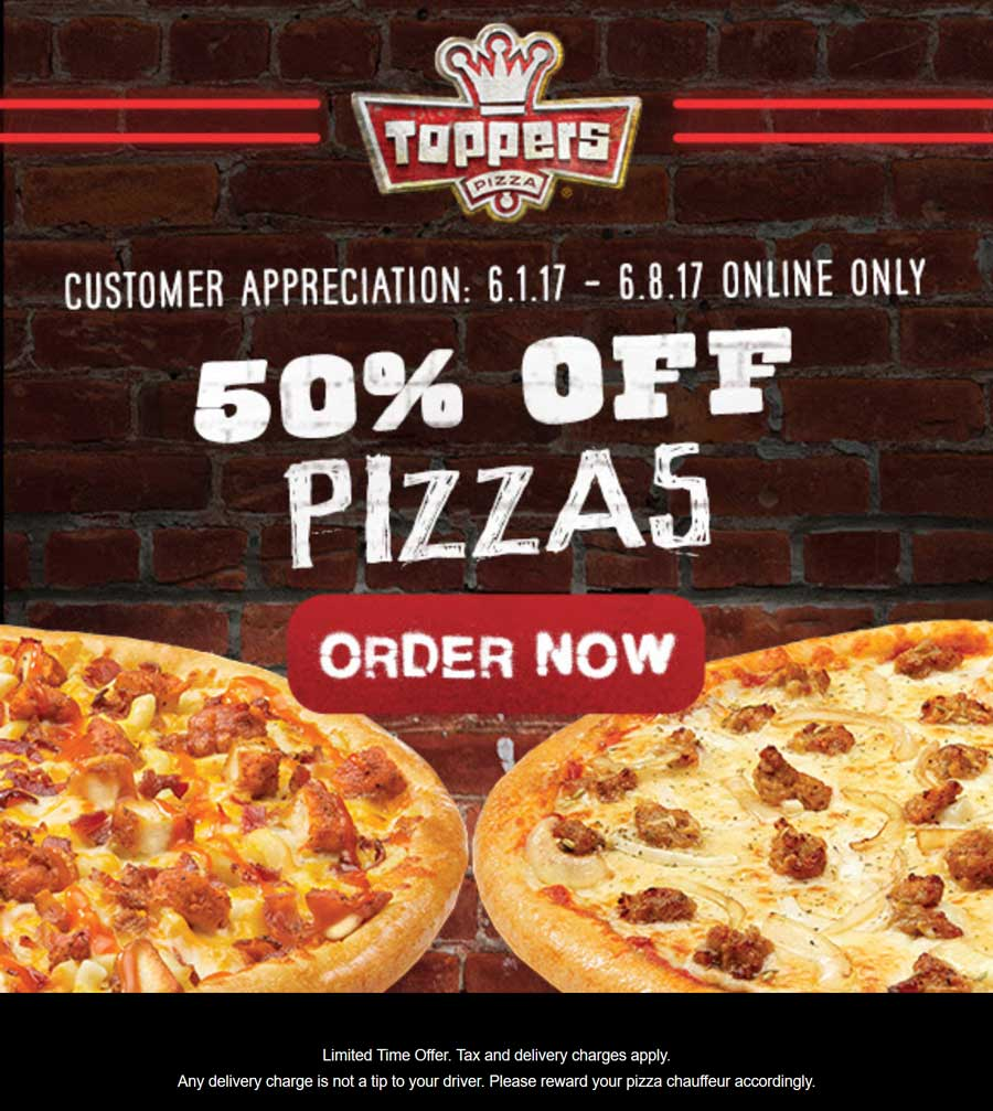 Expired Toppers Pizza Coupons