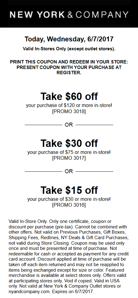 Recently Expired New York and Company Coupons & Promo Codes
