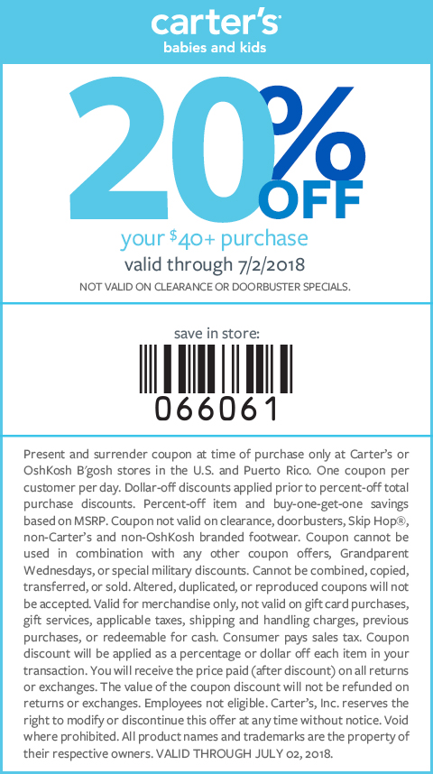 carters coupons to use in store