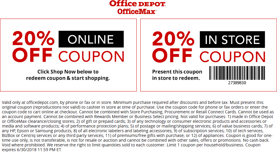 Office Depot Coupon Codes May 2019