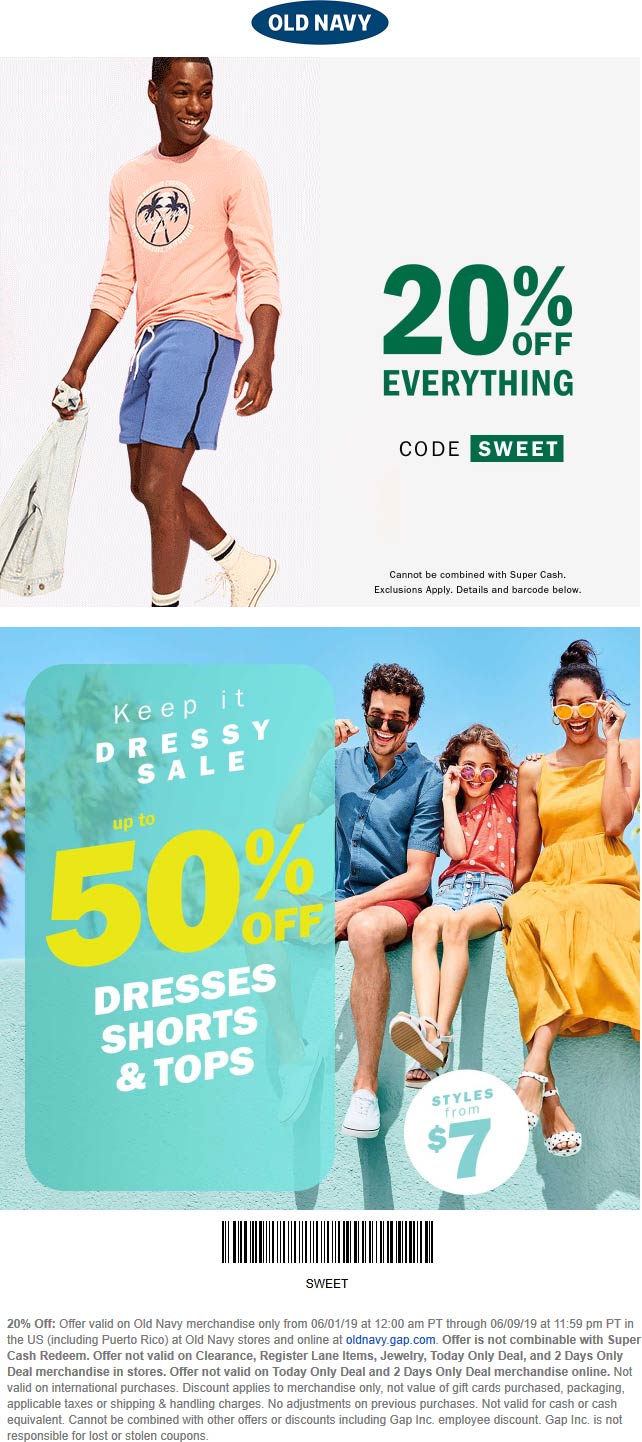 Old Navy coupons & promo code for [February 2021]