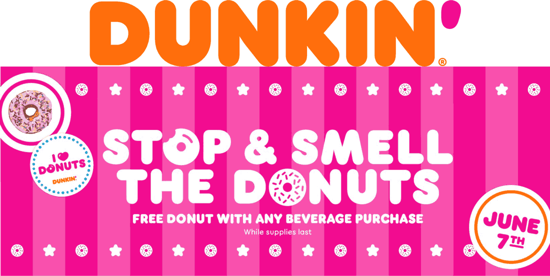 Dunkin Coupon October 2019 Free donut with your drink Friday at Dunkin doughnuts