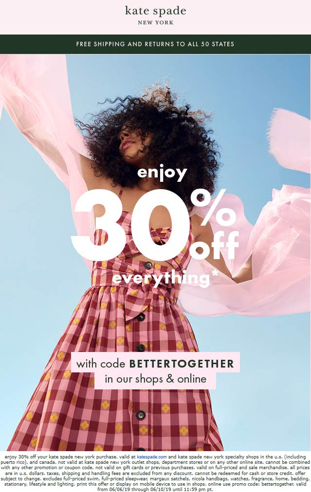 Kate Spade coupons & promo code for [October 2020]