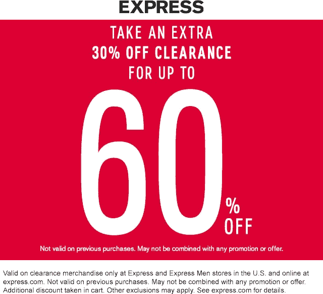 Express coupons & promo code for [April 2020]