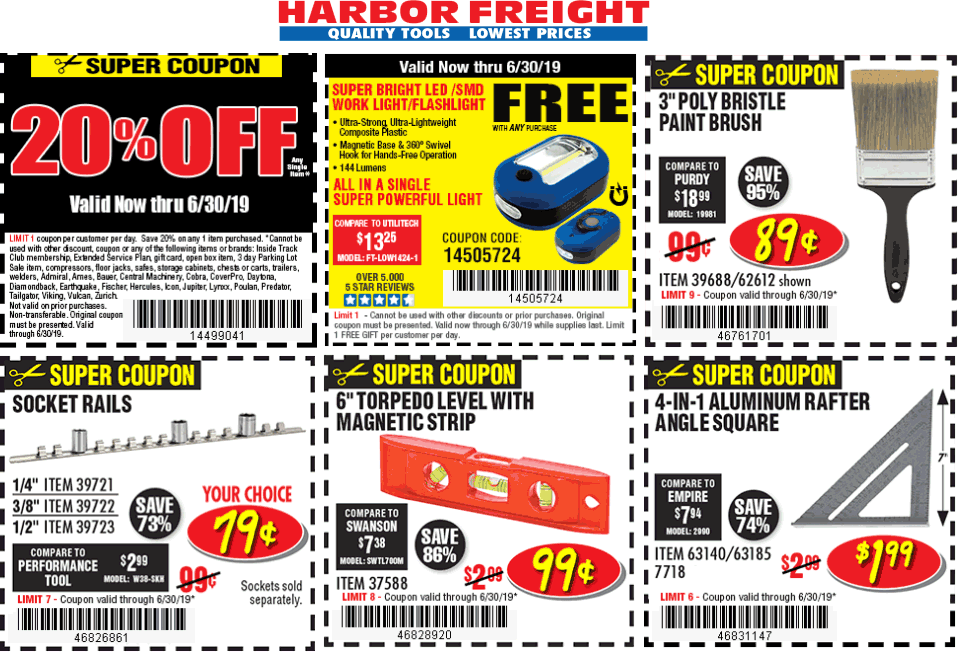 Harbor Freight Tools coupons & promo code for [July 2020]