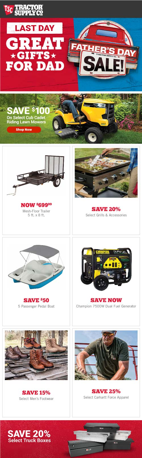 Tractor Supply Co Coupon December 2019 20% off truck boxes & more at Tractor Supply Co, ditto online