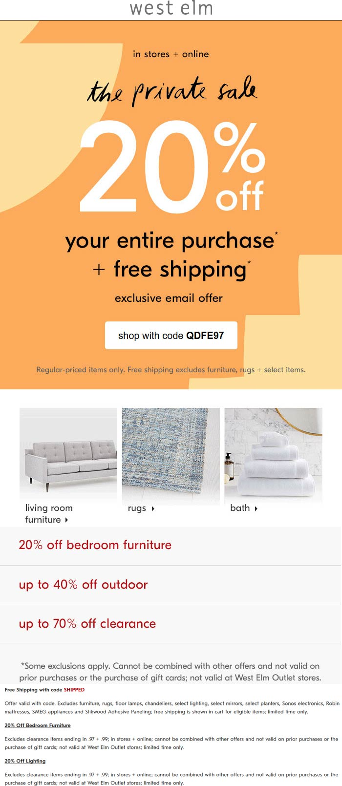 West Elm coupons & promo code for [April 2021]