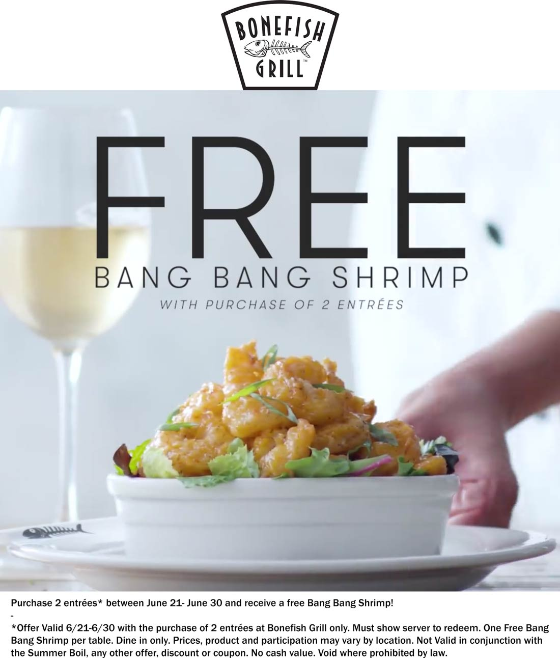 Bonefish Grill coupons & promo code for [November 2020]