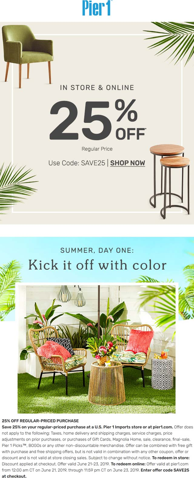 Pier 1 coupons & promo code for [October 2020]