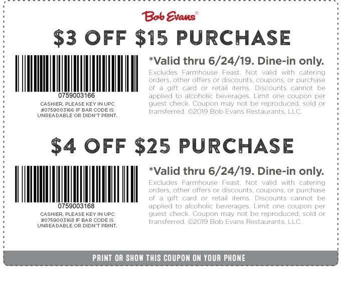 Bob Evans coupons & promo code for [August 2020]