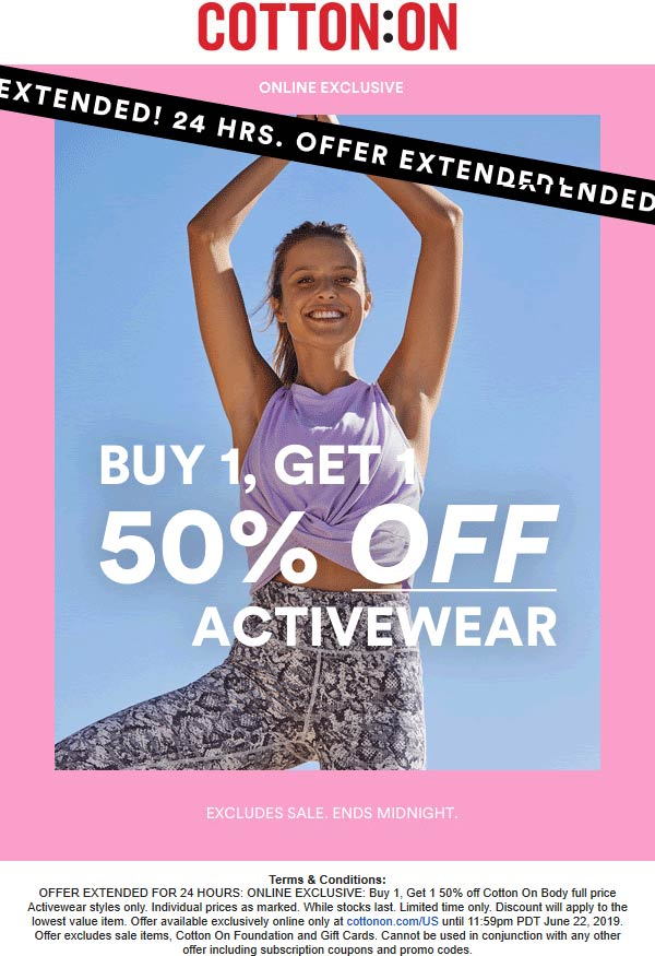 Cotton On coupons & promo code for [July 2020]
