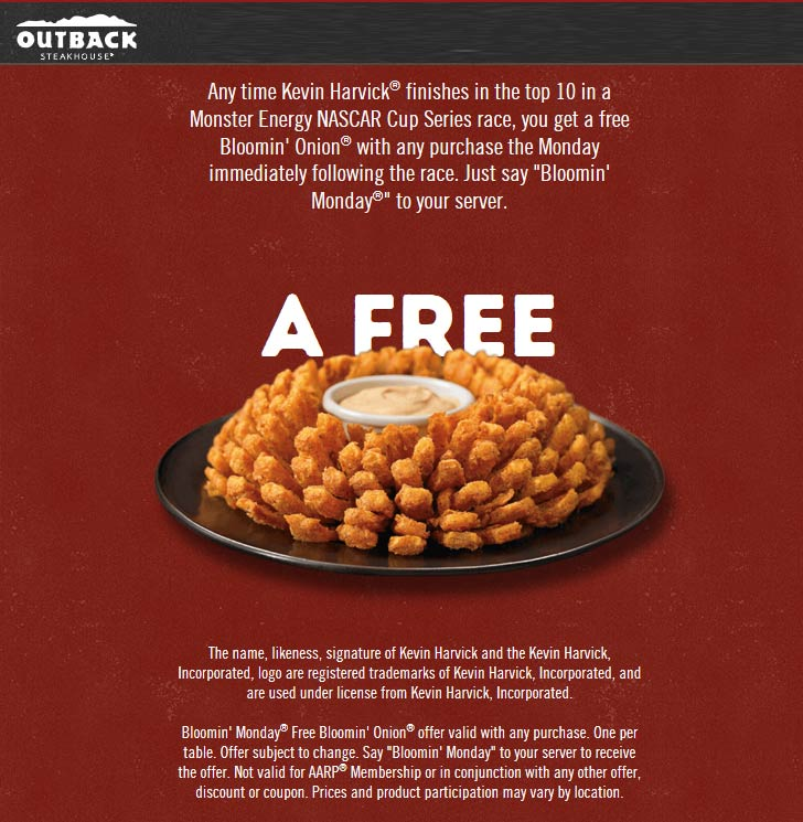 Outback Steakhouse coupons & promo code for [July 2020]