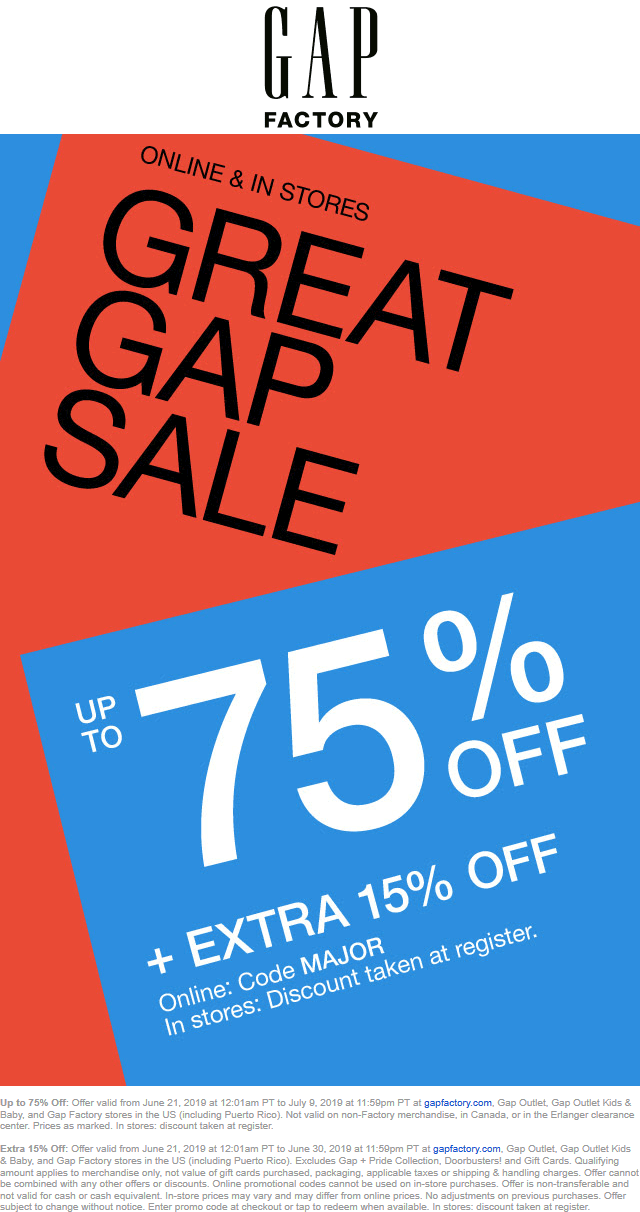 Gap Factory coupons & promo code for [February 2021]
