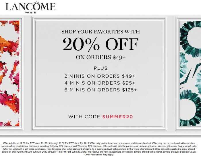 Lancome coupons & promo code for [April 2020]