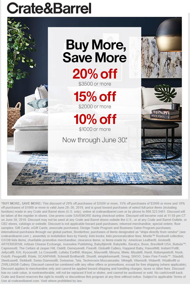 Crate & Barrel coupons & promo code for [November 2020]