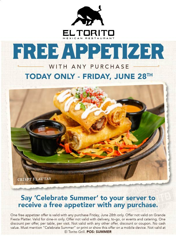 El Torito coupons & promo code for [April 2020]