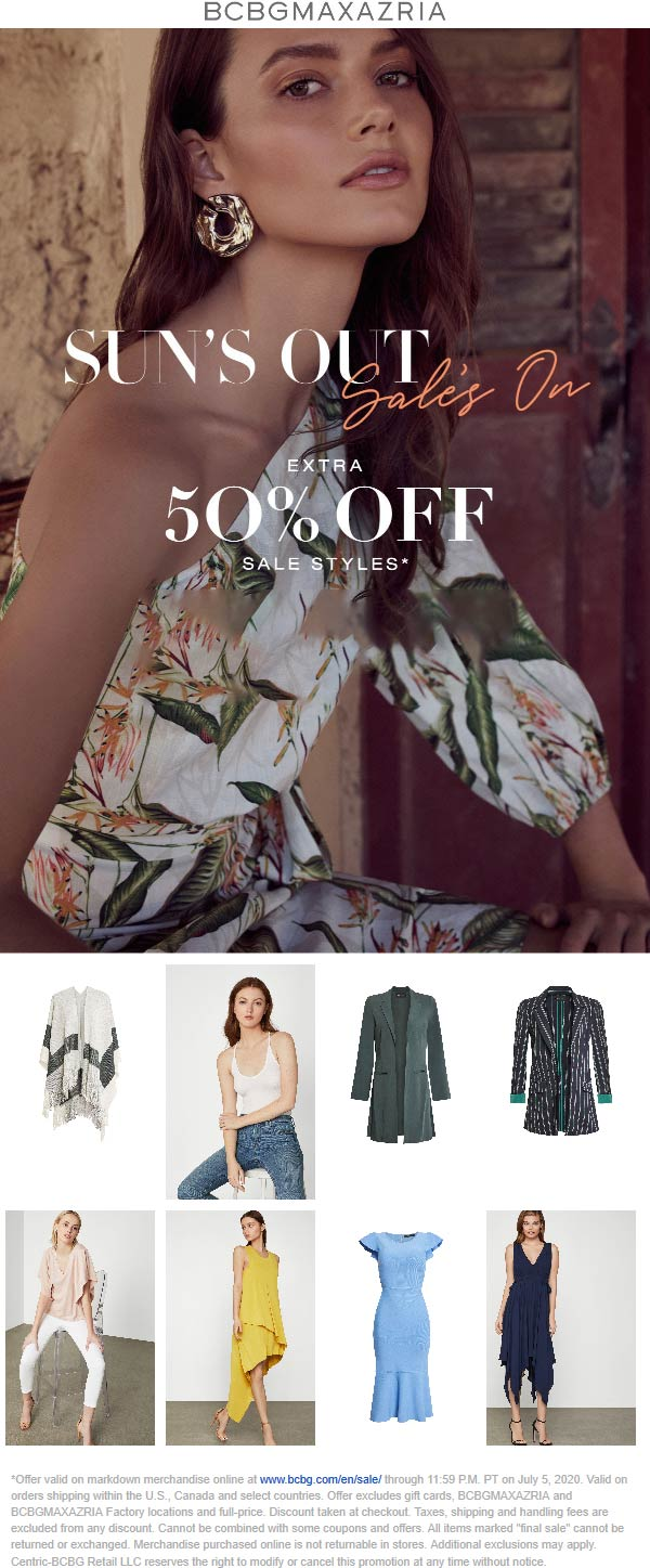 BCBG coupons & promo code for [December 2020]