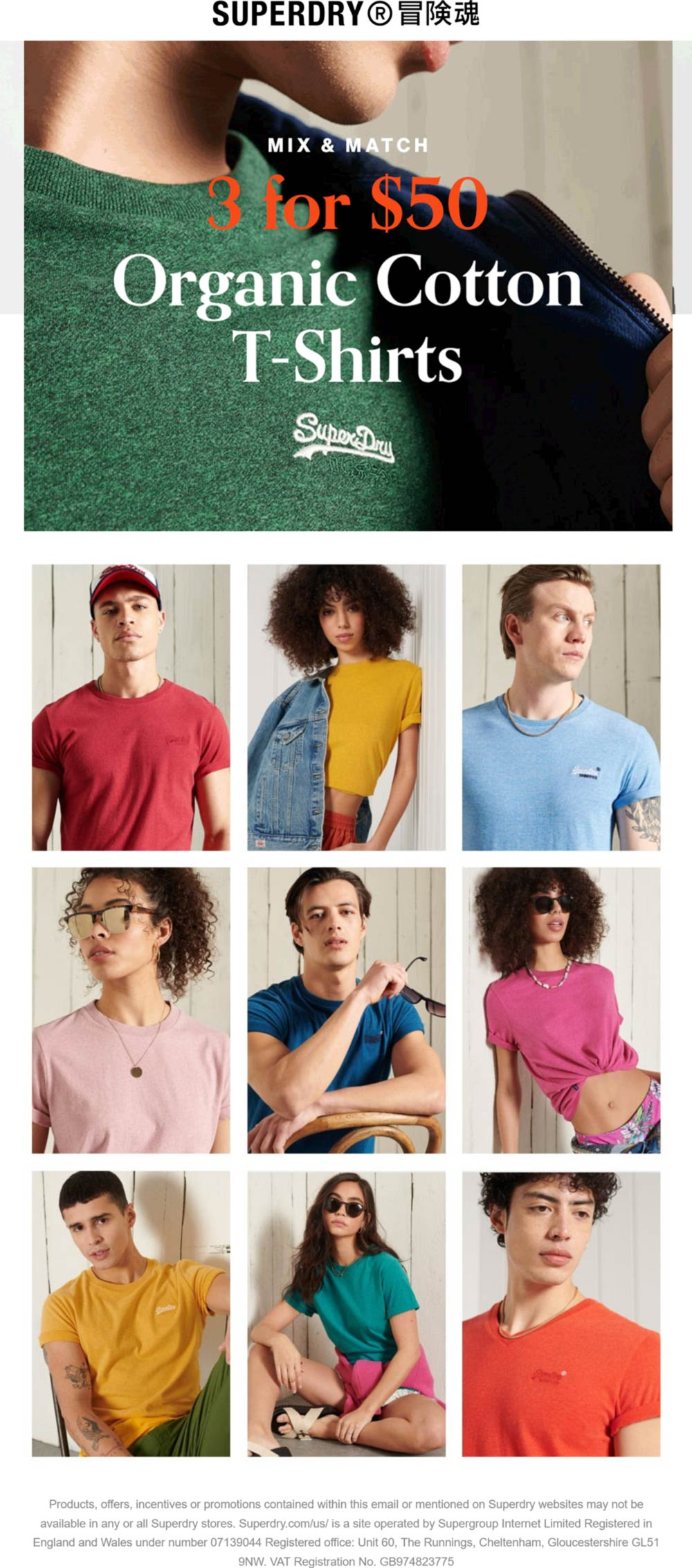 Superdry stores Coupon  T-shirts are 3 for $50 at Superdry #superdry