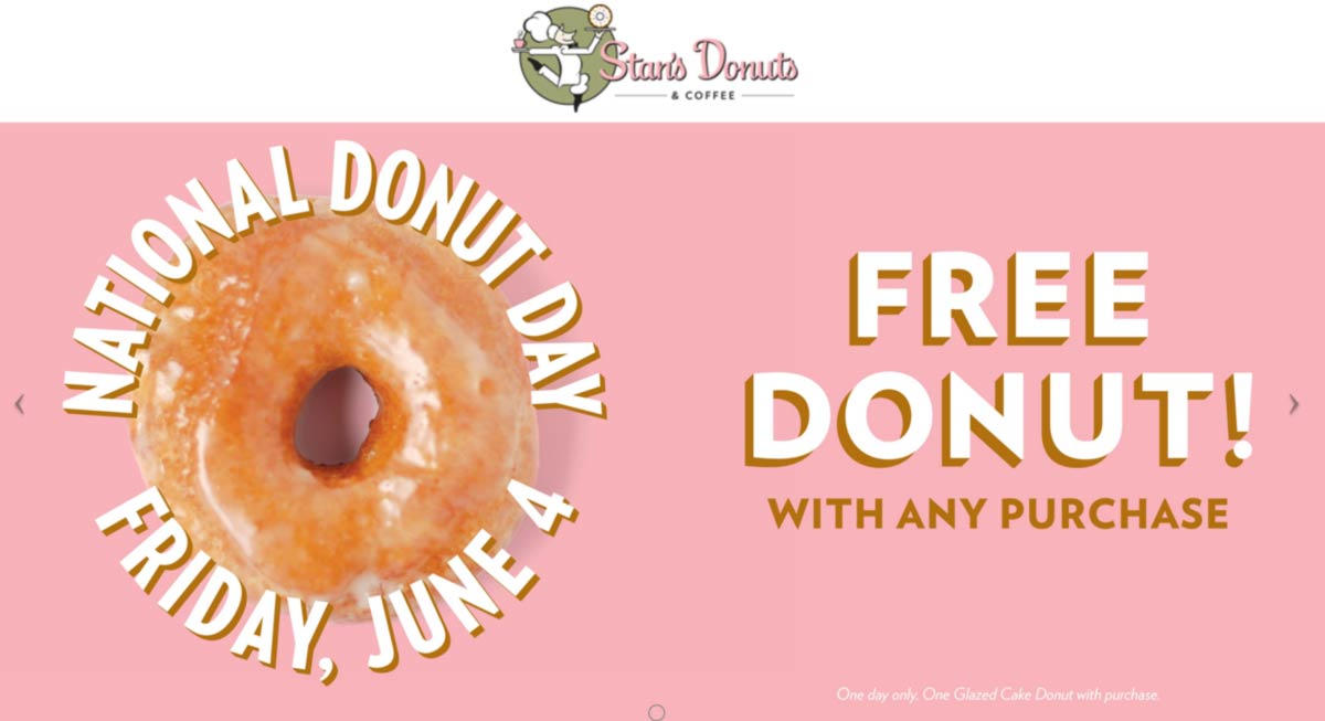 Stans Donuts restaurants Coupon  Free donut with any order today at Stans Donuts #stansdonuts