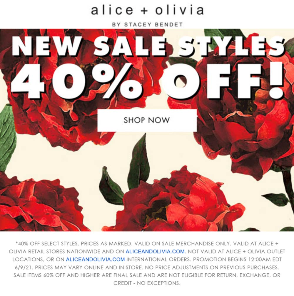 alice + olivia coupons & promo code for [June 2021]