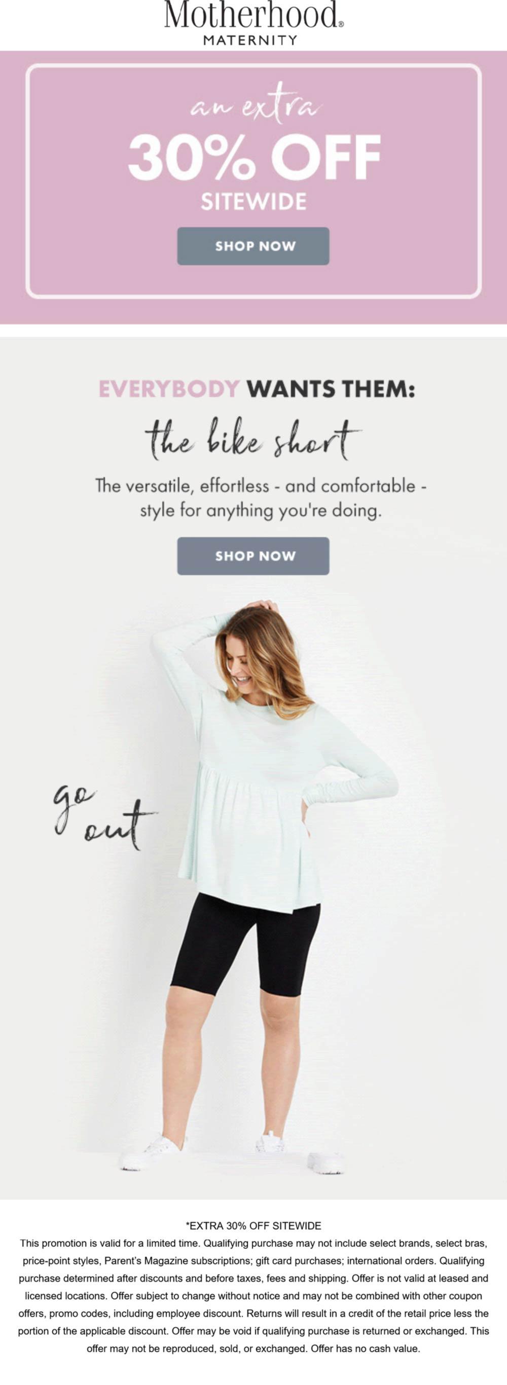 Motherhood Maternity coupons & promo code for [September 2021]