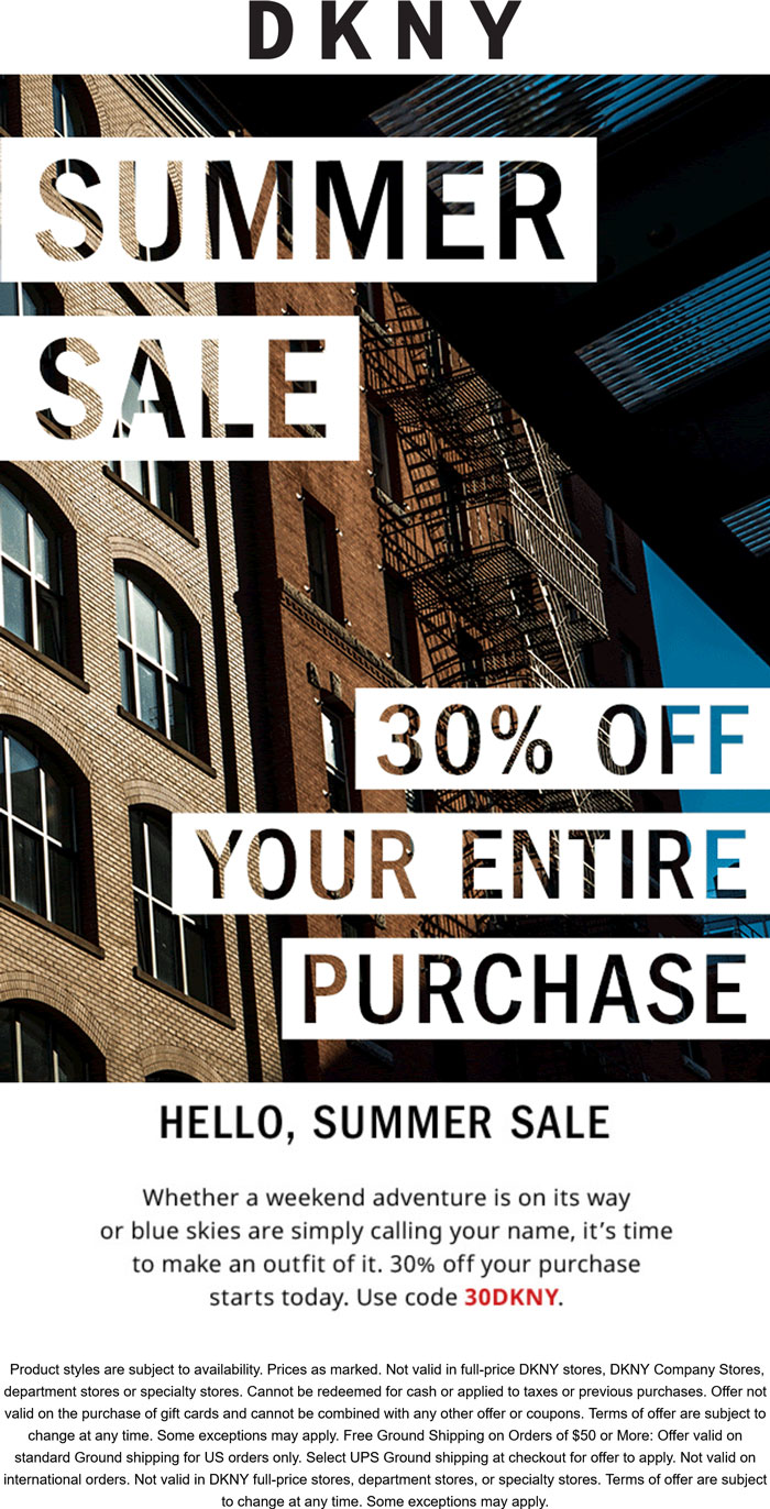 DKNY coupons & promo code for [June 2021]