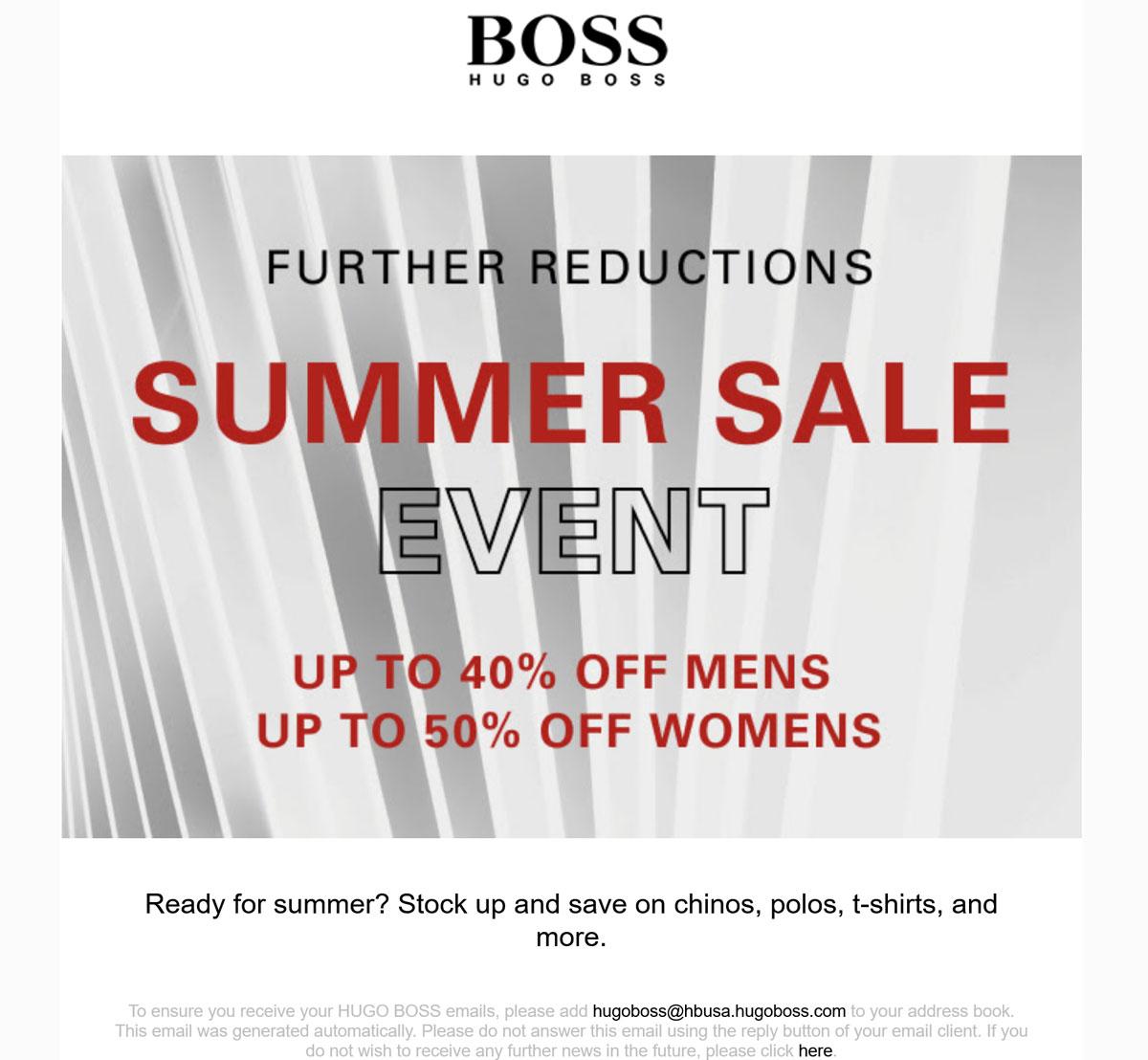 Hugo Boss coupons & promo code for [September 2021]