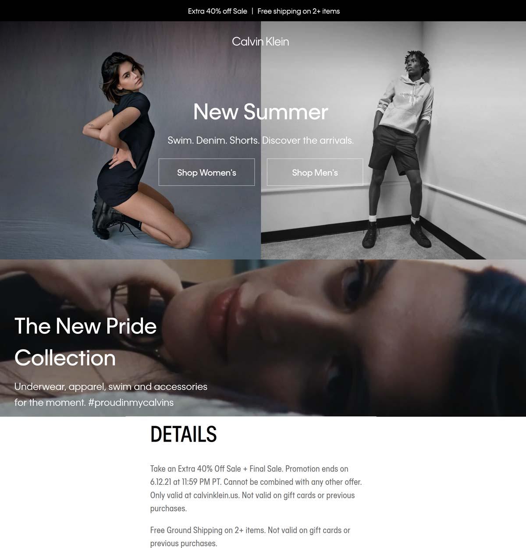 Calvin Klein stores Coupon  Extra 40% off sale items at Calvin Klein #calvinklein