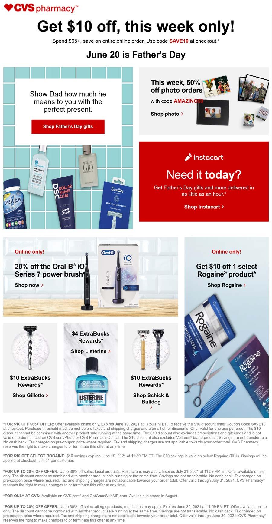 CVS Pharmacy stores Coupon  $10 off $65 at CVS Pharmacy via promo code SAVE10 #cvspharmacy