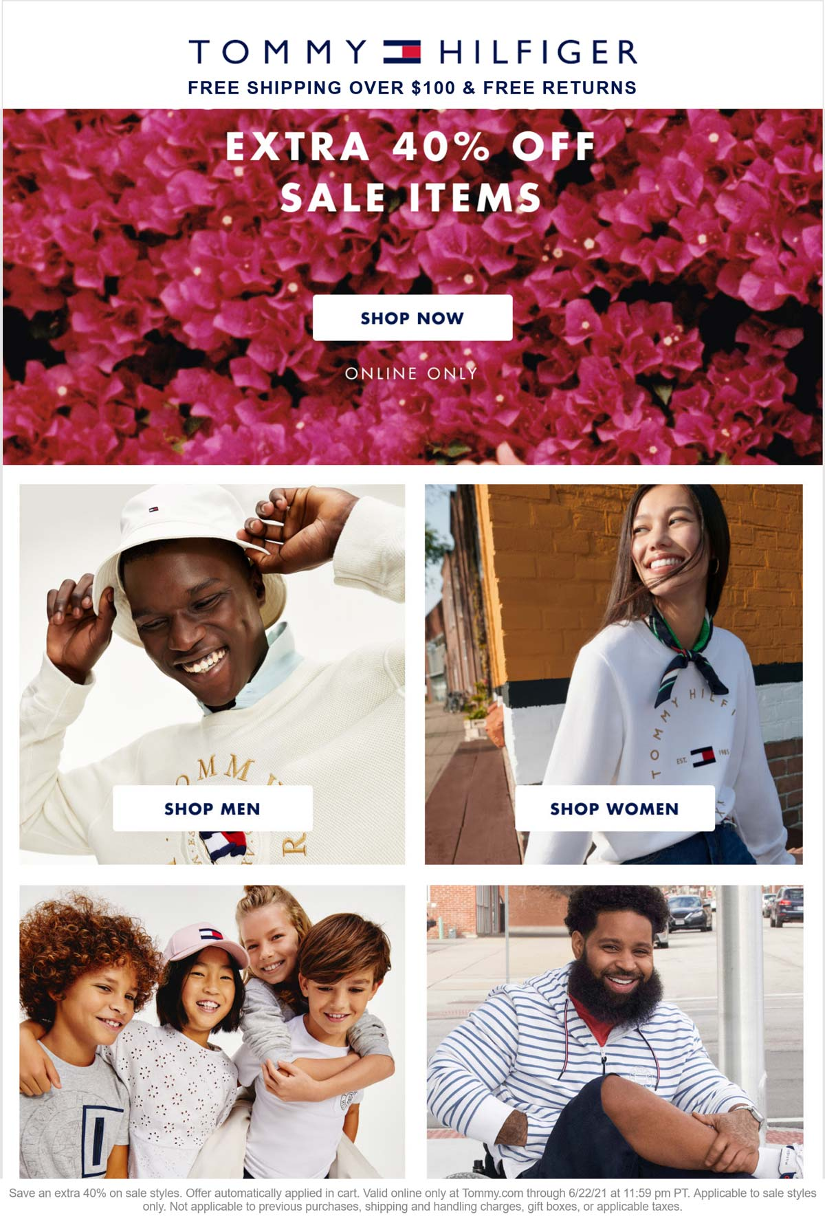 Tommy Hilfiger stores Coupon  Extra 40% off sale items online at Tommy Hilfiger #tommyhilfiger